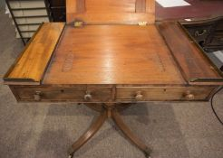 Victorian Mahogany Draughtmans style Table, Having a Ratchet Easel Top, With Drawers to the front