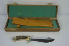Puma of Germany, Rodemann Hunting Knife, No 83774, Having an Antler grip, Blade 16.5cm long, With
