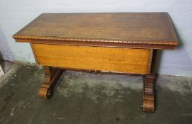 Victorian Style Side Table, 76cm high, 130cm wide, 58cm deep