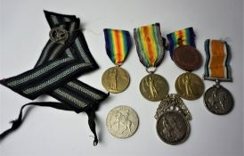 Three WWI Victory Medals, Awarded to M2 - 203431 PTE. T. BAIN, A. S. C, JEM DR . HIKMAT . 27