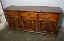 Clover Oak Sideboard, Having three small Drawers above three Cupboard Doors, 81cm high, 168cm