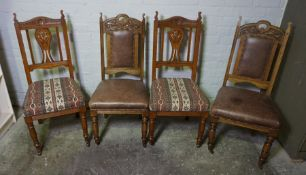Harlequin Set of Ten Oak Dining Chairs, Comprising of a Set of Six and a Set of Four, 104cm, 106cm