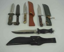 Solingen of Germany, Sportsmans Bowie Knife, No 357, Having an Antler grip, Blade 16.5cm long,