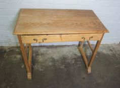 Ash Side Table, Having a Single Drawer, 74cm high, 93cm wide, 52cm deep
