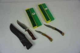 Puma of Germany, Deer Hunter Knife, No 965, Having a Wood grip with Brass mounts, Blade 9cm long,