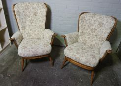 Ercol Three Piece Lounge Suite, Comprising of a Two Seater Sofa with a Pair of Matching Armchairs,