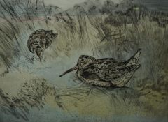 """Henry Wilkinson """"Birds"""" Signed Colour Etching, Number 117 of 150, Signed in Pencil, 25cm x 35cm"""