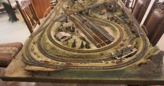 Large Model Train Track  Base, Also with some Model Carriages, To include two Boxed Hornby