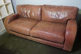 Leather Master Three Seater Sofa, 78cm high, 198cm wide, 97cm deep