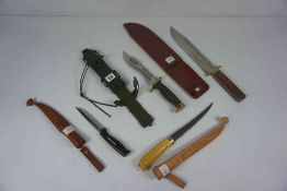 Aitor of Spain, Oso Blanco Hunting Knife, Having a Khaki coloured grip, With Gilt Metal mounts,