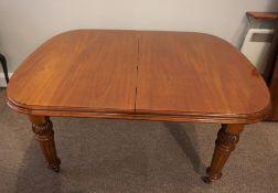 Mahogany Extending Dining Table, circa late 19th / early 20th century, Having two Additional Leaves,