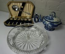 Boxes of Sundries, To include Brass, China, Glass and Dolls