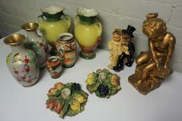 Box of Pottery and Sundries