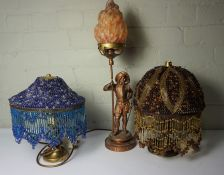 Mixed Lot of Table Lamps and Candleabra, (6)