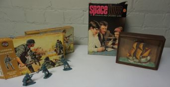 Quantity of Vintage Childrens Games and Books, To include Toy Tanks, Airfix Models etc