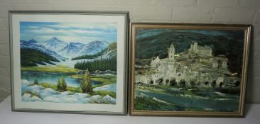 Three Prints, To include a Print After John Constable and Anne Redpath, Also with a Watercolour, (
