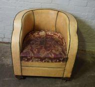 Art Deco Style Tub Chair, 72cm high