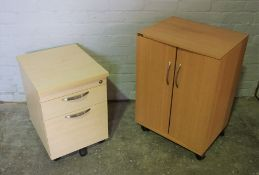 Office Cabinet, 74cm high, 53cm wide, 40cm deep, With an Office Cupboard, (2)