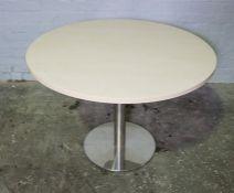 Modern Circular Office Table, 73cm high, 101cm wide
