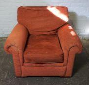 Rust Coloured Armchair, 81cm high