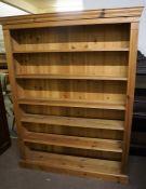 Modern Pine Open Bookcase, 168cm high, 128cm wide, 26cm deep
