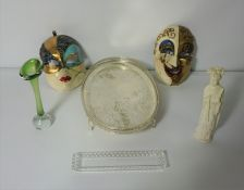Box of Sundries and Glass