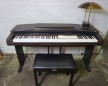 Yamaha Clavinova Electric Keyboard, 81cm high, Model no CVP 88A, 144cm wide, 51cm deep, With Desk