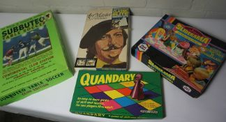 Lot of Vintage Boxed Games, To include Subbuteo Table Soccer, Meccano etc