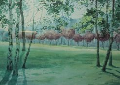 """Michael Gill """"Trees"""" Limited Edition Print, No 33 of 250, Signed in Pencil, 27.5cm x 40cm"""