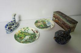 Box of Pottery and China