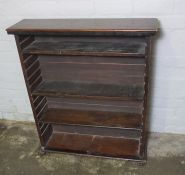 Stained Wood Open Bookcase, 94cm high, 84cm wide, 24cm deep