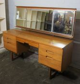 Retro Teak Chest of Drawers by Uniflex, With matching Dressing Table, Dressing Table 126cm high,