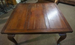 Mahogany Pull Out Dining Table, 76cm high, 137cm wide