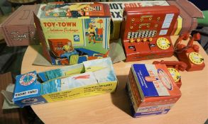 Pro Shot Golf By Marx, Boxed, Also with Telephone Exchange Toy - Town By Codeg, Boxed, Scalex Racing