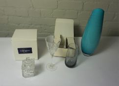 Three Boxes of Crystal and Glass