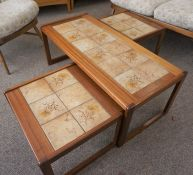 Retro Style Nest of Three Tables, 40cm high, 105cm wide, 47cm deep, (3)
