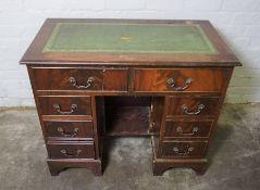 Reproduction Kneehole Desk, 77cm high, 92cm wide, 50cm deep