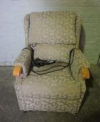 Electric Reclining Armchair, 100cm high