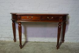Modern Hall Table, Leg needing affixed, 78cm high, 141cm wide, 47cm deep