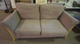 Ercol Fabric Covered Two Seater Sofa, 74cm high, 190cm wide, 96cm deep