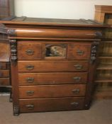 Late Victorian Chest of Drawers, Adapted, 144cm high, 136cm wide, 63cm deep