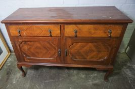Stained Wood Sideboard, 95cm high, 136cm wide, 50cm deep