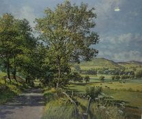 "James McIntosh Patrick ""Highland Lane"" Signed Print, Signed in Pencil, With Blind Stamp, 40cm x"