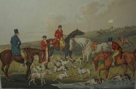 Set of Four Hunting Prints, 19cm x 29.5cm, (4)