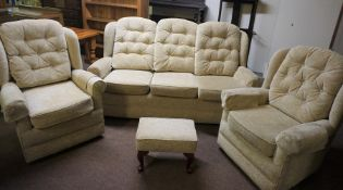 HSL Upholstered Four Piece Lounge Suite, (4)