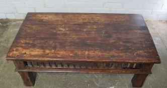 Hardwood Coffee Table, 40cm high, 110cm wide, 61cm deep