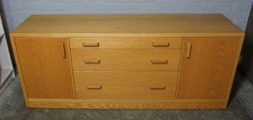Ercol Style Sideboard, 73cm high, 179cm wide, 51cm deep
