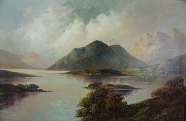 "W. Richards (F.E Jamieson) (Scottish 1895-1950) ""Loch Lomond"" Oil on Canvas, Signed, 38cm x 59cm"