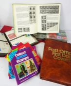 Three Albums of Post Office First Day Covers, With some Stamp Collecting Books, (a lot)