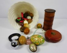 Quantity of Assorted Collectables, To include Mineral Eggs, Mother of Pearl Egg Shaped Trinket /